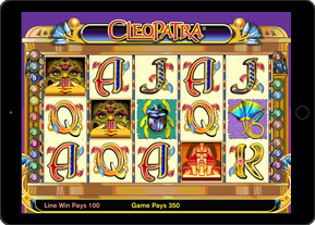 Play Cleopatra Slot on Ipad Tablet