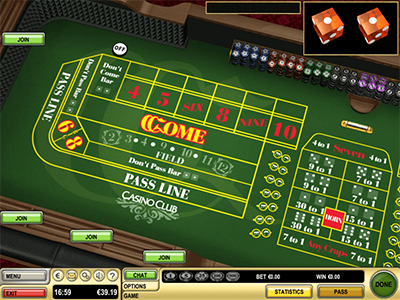 How many rolls of dice per hour in craps