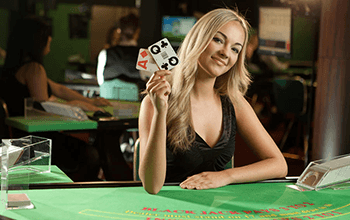 Live Dealer Blackjack Screenshot