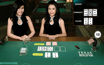 Live Dealer Hold'em Screenshot
