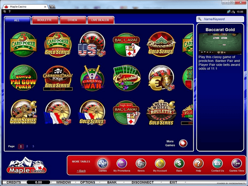 maple casino download