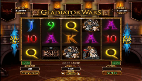 Bodog Casino Gladiator Wars