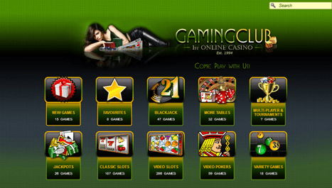 Gaming Club Screenshot