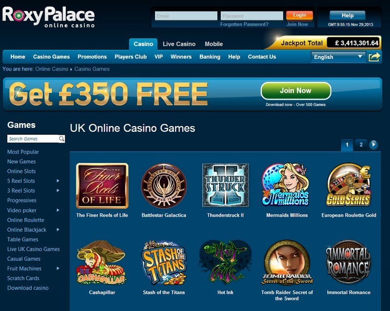 roxy palace online casino golden casino games